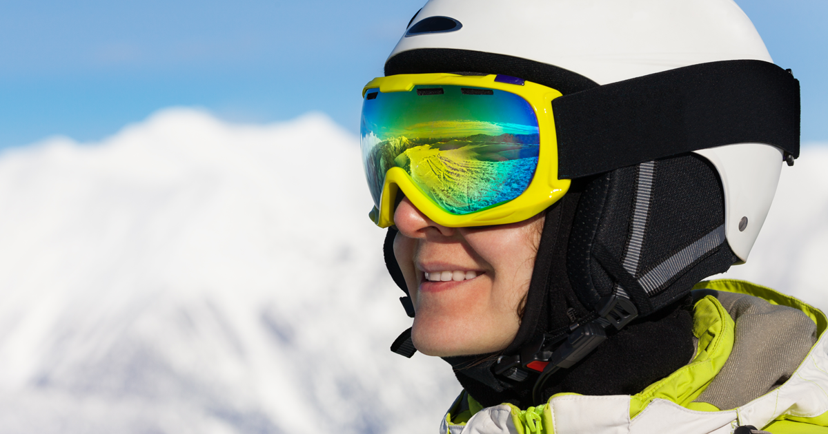 Prevent snow blindness and sunburned eyes